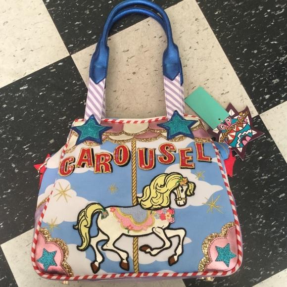 9dbdd1c61a Irregular Choice Glitter Carousel Pony Purse